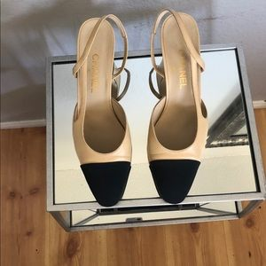 Authentic Chanel Beige Slingback Pump [41]